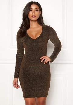 BUBBLEROOM Nemi sparkling dress Black / Gold Bubbleroom.no