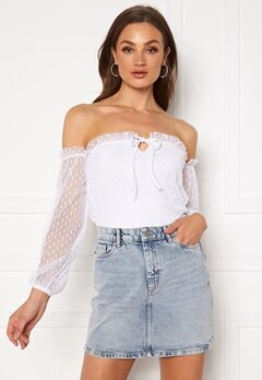 BUBBLEROOM Nilla offshoulder top White Bubbleroom.no
