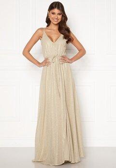 BUBBLEROOM Nionne sparkling chiffon prom dress Gold-coloured / Champagne Bubbleroom.no