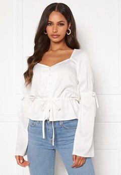 BUBBLEROOM Novalie blouse White Bubbleroom.no