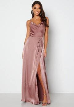 Bubbleroom Occasion Marion Waterfall Dress Old rose bubbleroom.no