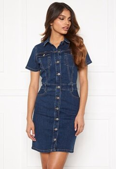 BUBBLEROOM Odina denim dress Medium denim Bubbleroom.no