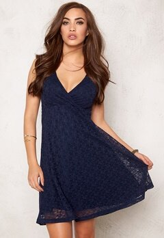 BUBBLEROOM Paris lace dress Dark blue Bubbleroom.no