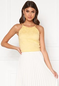 BUBBLEROOM Penina lace top Yellow Bubbleroom.no
