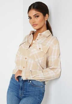 BUBBLEROOM Pie flannel shirt Beige / White / Checked bubbleroom.no