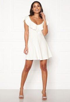 BUBBLEROOM Sanna flounce dress White Bubbleroom.no