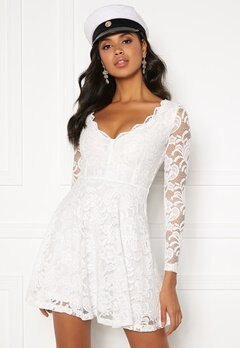 BUBBLEROOM Shione lace dress White Bubbleroom.no