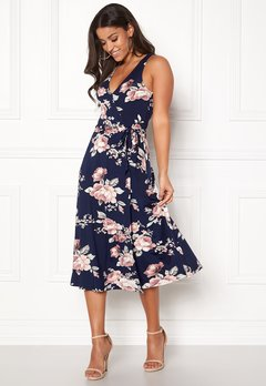 BUBBLEROOM Sibel dress Dark blue / Floral Bubbleroom.no