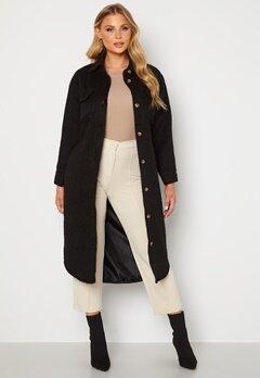 BUBBLEROOM Sofie Shirt Coat Shacket Black bubbleroom.no
