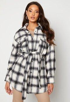 BUBBLEROOM Sonya Shirt Jacket   White / Black / Checked bubbleroom.no