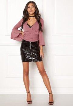 BUBBLEROOM Sophy shiny skirt Black Bubbleroom.no