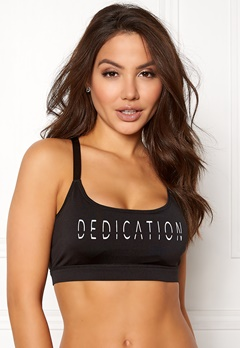 BUBBLEROOM SPORT Boobilicious sports bra Black / White / Text Bubbleroom.no