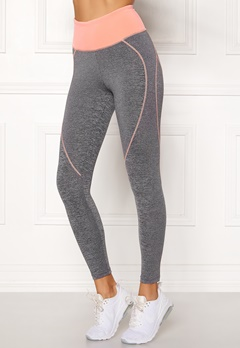 BUBBLEROOM SPORT Bubble butt sport tights Grey melange / Peach Bubbleroom.no