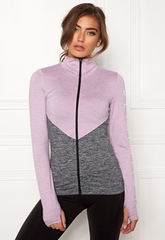 BUBBLEROOM SPORT Burpees then slurpees sport jacket Grey melange / Lilac melange Bubbleroom.no