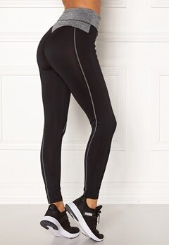 BUBBLEROOM SPORT Butt sport tights Black / Grey melange bubbleroom.no
