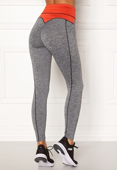 BUBBLEROOM SPORT Butt sport tights Grey melange / Red Bubbleroom.no