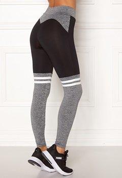 BUBBLEROOM SPORT Excite sport tights Grey melange / Black Bubbleroom.no