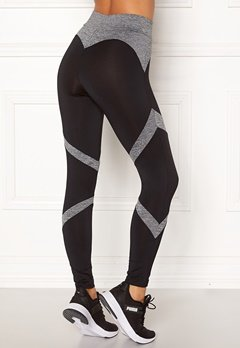 BUBBLEROOM SPORT Fierce sport tights Black / Grey melange Bubbleroom.no