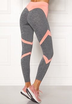 BUBBLEROOM SPORT Fierce Sport Tights Dark grey melange / Apricote Bubbleroom.no