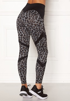 BUBBLEROOM SPORT Fierce sport tights Leopard / Black Bubbleroom.no