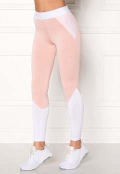 BUBBLEROOM SPORT Strongest sport tights Light pink / White Bubbleroom.no