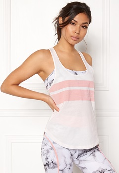 BUBBLEROOM SPORT Success Sport Top White / Pink / Text Bubbleroom.no