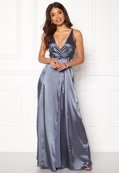 BUBBLEROOM Stella prom dress Dusty blue Bubbleroom.no