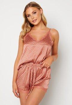 BUBBLEROOM Steph pyjama shorts set Dusty pink / Dotted Bubbleroom.no