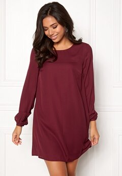 BUBBLEROOM Teresita dress Wine-red Bubbleroom.no