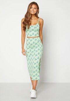BUBBLEROOM Thelsie midi skirt Green / Floral bubbleroom.no