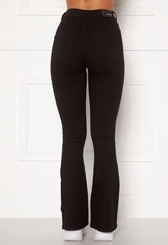 BUBBLEROOM Tove high waist flared superstretch Black Bubbleroom.no