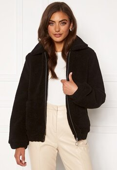 BUBBLEROOM Tove teddy jacket Black Bubbleroom.no