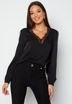 BUBBLEROOM Vallie lace blouse Black bubbleroom.no