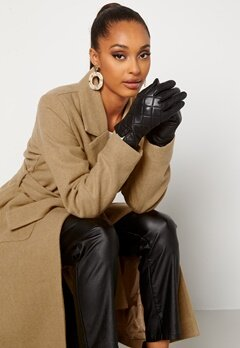 BUBBLEROOM Velma quilted leather gloves Black bubbleroom.no