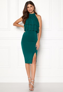 BUBBLEROOM Venice Love Dress Dark green Bubbleroom.no