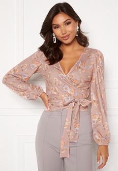 BUBBLEROOM Vilja wrap top Pink / Floral Bubbleroom.no