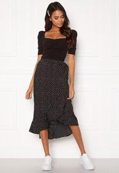 BUBBLEROOM Villima midi skirt Black / White / Dotted Bubbleroom.no