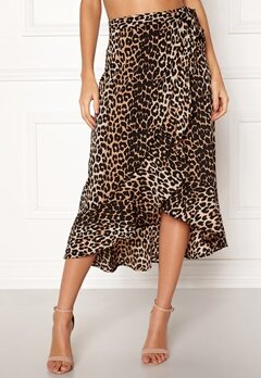 BUBBLEROOM Villima midi skirt Leopard Bubbleroom.no