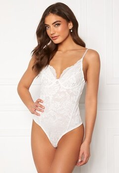 BUBBLEROOM Violette lace body White Bubbleroom.no
