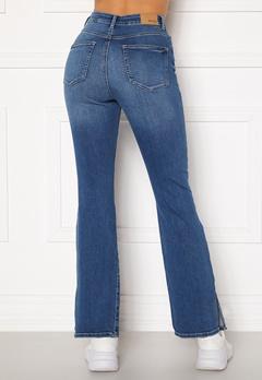 BUBBLEROOM Wendy side slit jeans Medium denim Bubbleroom.no