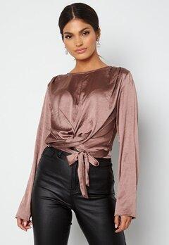BUBBLEROOM Yasmin tie blouse Old rose bubbleroom.no
