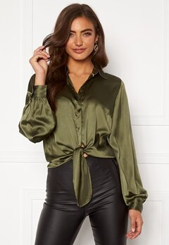 BUBBLEROOM Zamira puff sleeve shirt Green Bubbleroom.no