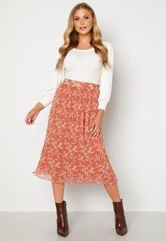 BUBBLEROOM Zarie pleated skirt Dusty pink / Floral Bubbleroom.no