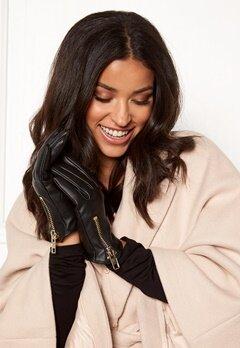BUBBLEROOM Zita Zip Gloves Black Bubbleroom.no
