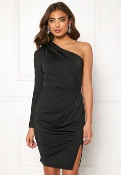 BUBBLEROOM Meryam one shoulder dress Black Bubbleroom.no