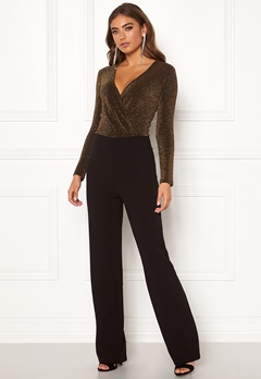 BUBBLEROOM Edalia sparkling top jumpsuit Black / Gold Bubbleroom.no