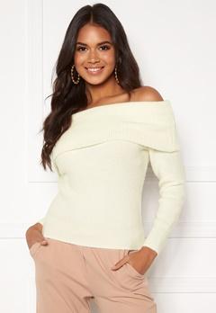 BUBBLEROOM Dani knitted sweater White Bubbleroom.no