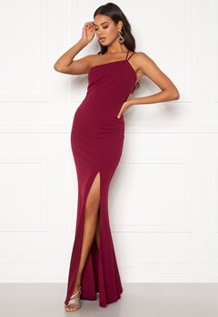 BUBBLEROOM Lilith one shoulder gown Wine-red Bubbleroom.no