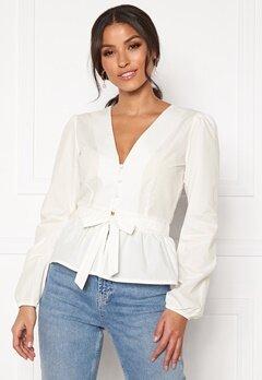 BUBBLEROOM Elina blouse White Bubbleroom.no