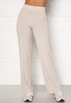 BUBBLEROOM Alanya rib trousers Light nougat Bubbleroom.no